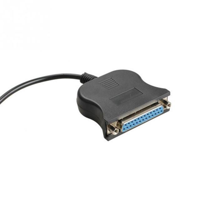 Black 85cm USB 1.1 to DB25 Female Port Print Converter Cable LPT  Bi-directional Parallel interface Communication 5