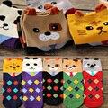 Nuevo estilo de Corea Del Sur Algodón 3D Calcetines de Moda coloridos de las mujeres Animal encantador de la historieta linda calcetines meias