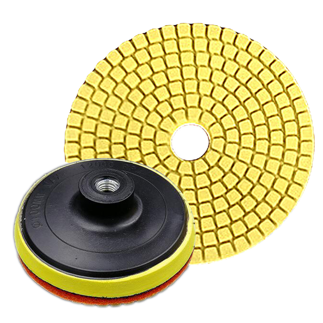 "Flexible Polishing Pads 100mm 4"" Wet Diamond Grinding Disc Polishing Pad For Granite Marble Stone Concrete Stone Grinding Disc"