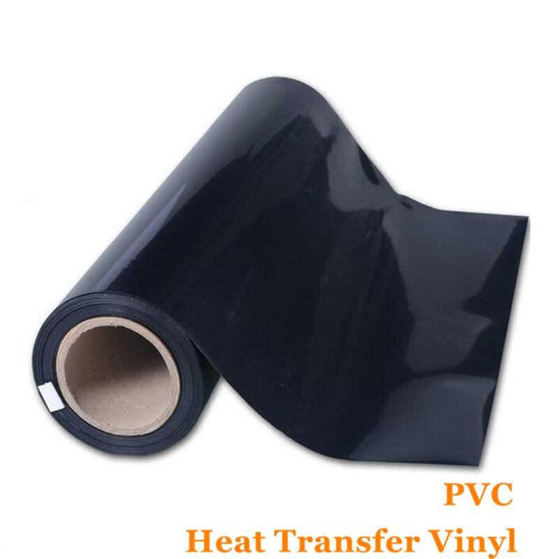PVC Vinyl Transfer Paper And Heat Transfer Vinyl With Korean Quality Black Color Vinyl Flex Flim 0.51cm*1m