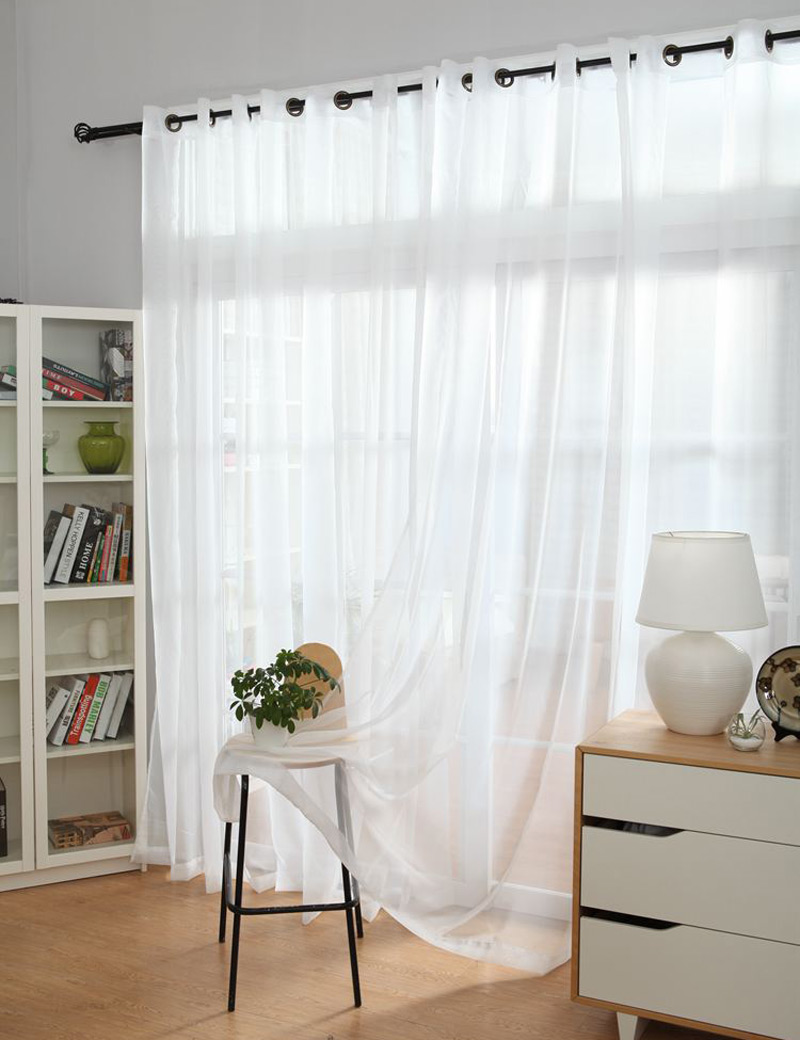 decoration in kitchen white wedding from drapes voile on tulle home item curtains window garden ceiling sheer polyester curtain