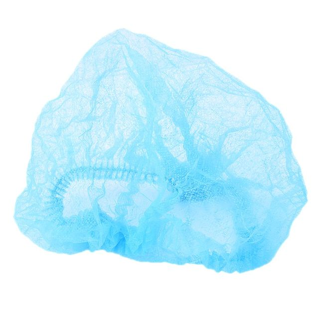 ATOMUS 10Pcs Microblading Blue Medical Hair Net Cap Non-Woven Bouffant Stretch Dust Cap For Tattoo Cleaning Supplies 2