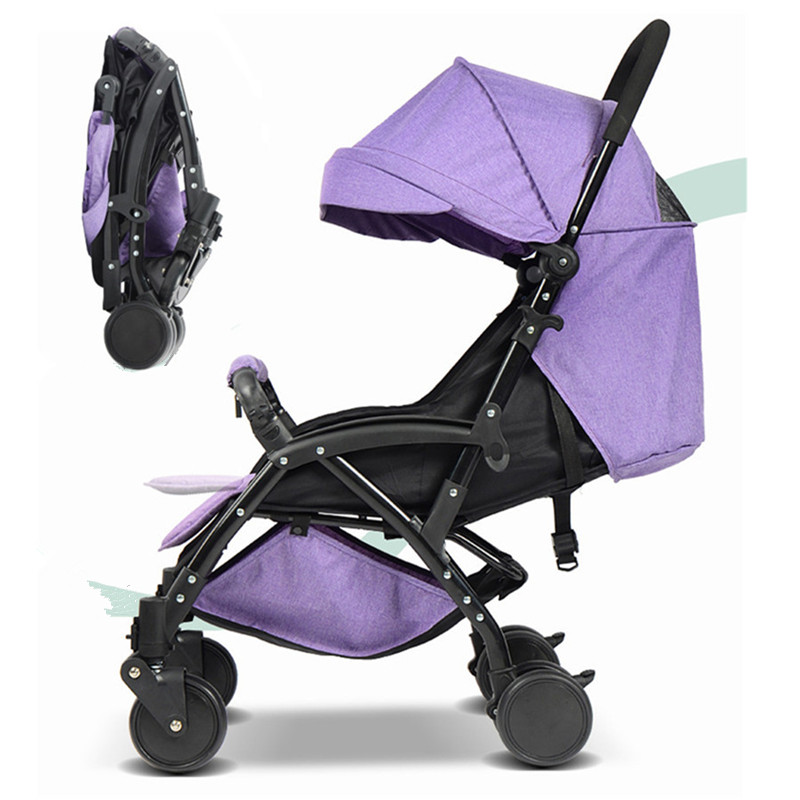 Lightweight Easy Carry Foldable Baby Stroller Mini Size Baby Carriage 3 In 1 Prams For Newborns Pushchairs Can Sit Or Lie 2016 portable light easy carry fashion children baby stroller four wheels foldable stroller carry bag 4 color for 0 36 month