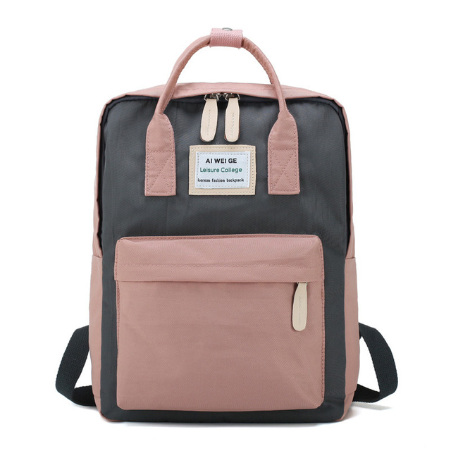 f2b95253fd03 Canvas Pink Kanken Backpack School Bag Female For Girls Teenagers Travel  Backpack Women Classic Laptop Mochila