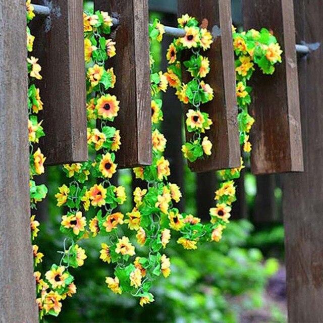 żywe Fałszywy Jedwab Bluszcz Winorośli Sztuczne Kwiaty Z Zielonymi