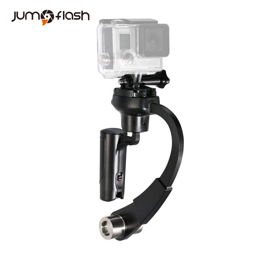 Jumpflash Action Camera 3-Axis Inertia Gyro Stabilizer Mini Handheld Video Selfie Stick Support for GoPro Cameras Camcorders