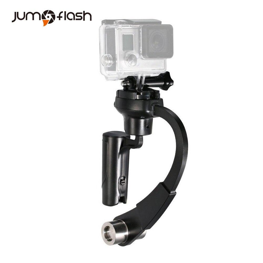 Jumpflash acción 3 eje inercia Gyro estabilizador Mini portátil de vídeo apoyo Selfie para cámaras GoPro videocámaras