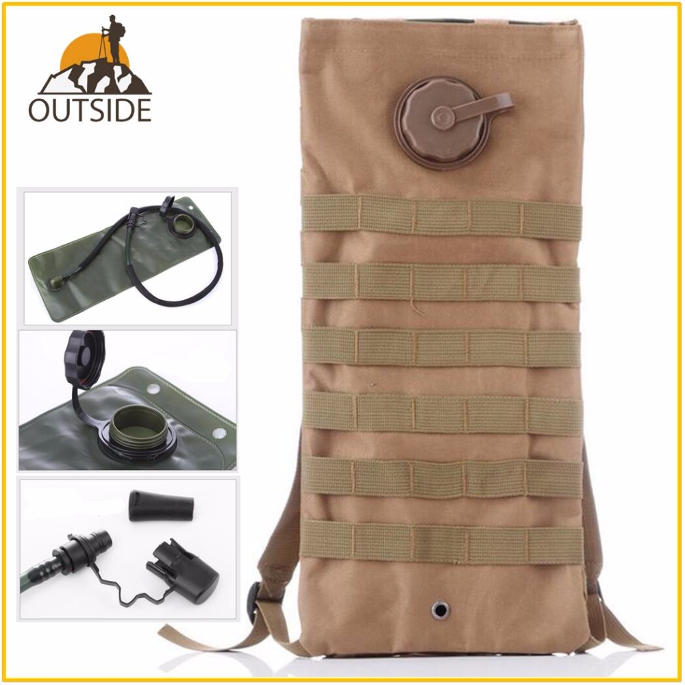 2.5L Water Bag Molle Military Tactical Hydration Backpack Outdoor Camping Camelback Nylon Water Bladder Bag For Cycling Running