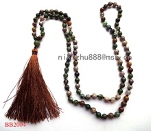 ФОТО hotsale fashion new design natural stones india agate necklace ,necklace tassel and semi-precious women's necklaces