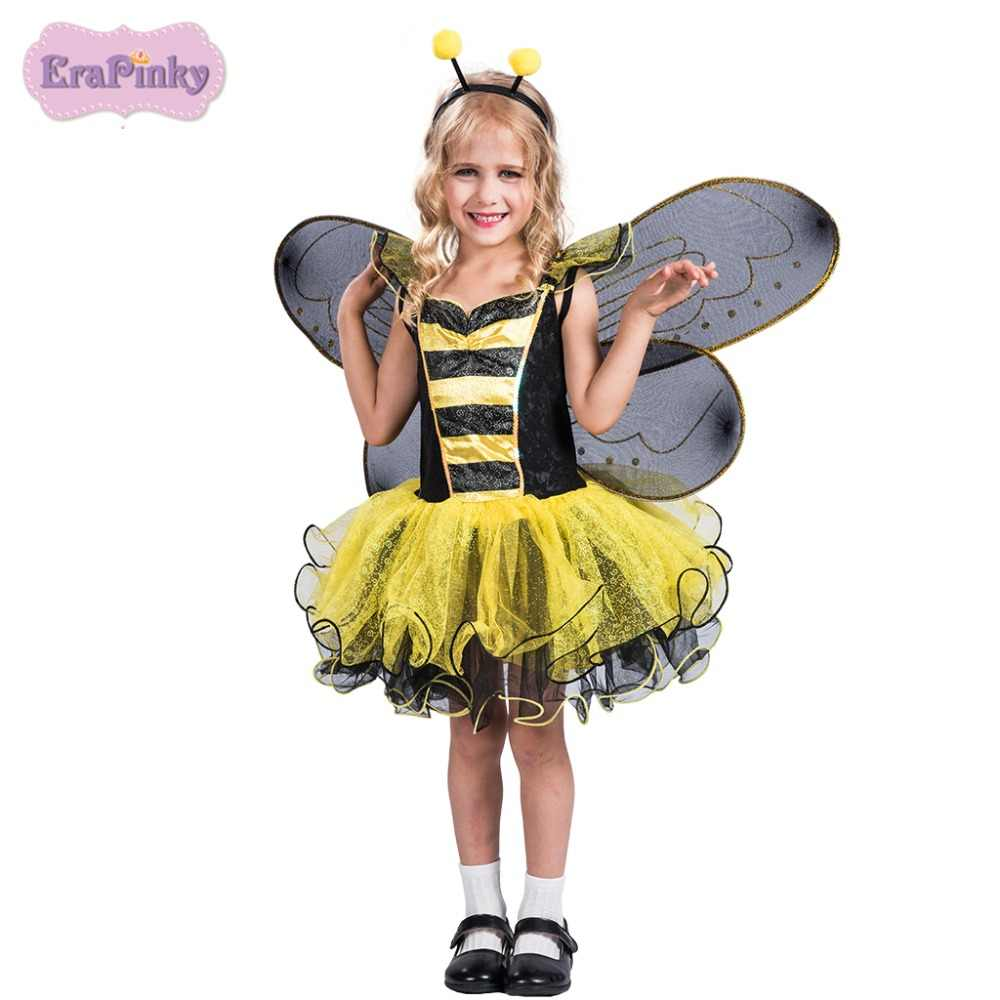 2400fe8cb Erapinky Halloween Costume For Girl Children Carnival Costume Dress Up  Bumble Bee Tulle Ball Gown Girl