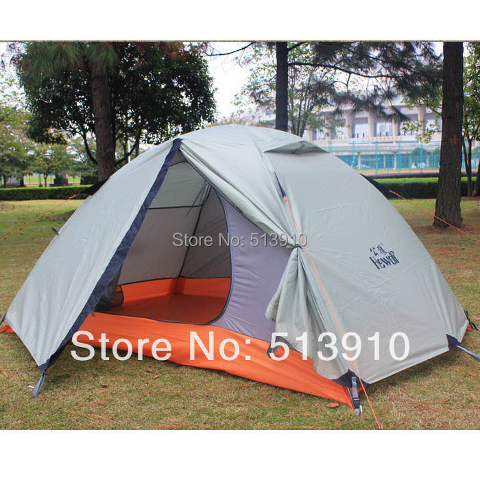 2Persons 4seasons double layer anti-rain outdoor mountains camping tent/Couple hiking tent mobi garden outdoor camping tent 4 seasons double layer aluminum tent two rooms big camping tent super large 3 4 persons tent