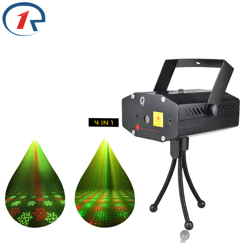 ZjRight 4patterns RG Laser Stage Light Sound Control Laser projection effect Lights For dj disco Christmas Party Effect Lighting русский гамак rg 20 материал канвас полоска 4