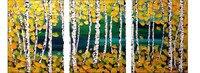 Cenário Natural Pintura A Óleo sobre Tela Pintado À Mão Árvore abstrata Moderna Pinturas em Acrílico 3 Painel Wall Art Imagem Decoração Cena