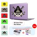 Imprimir patrón pirata calavera y tibias cruzadas sabres caso para apple macbook air 13 Caja de Aire 11 Pro 13 Retina 12 13 15 Caja Del Ordenador Portátil