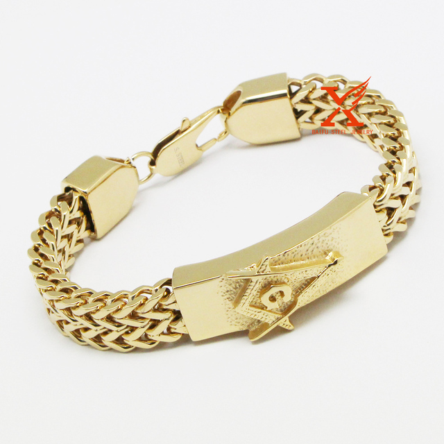 bracelet mens gold solid franco mm yellow