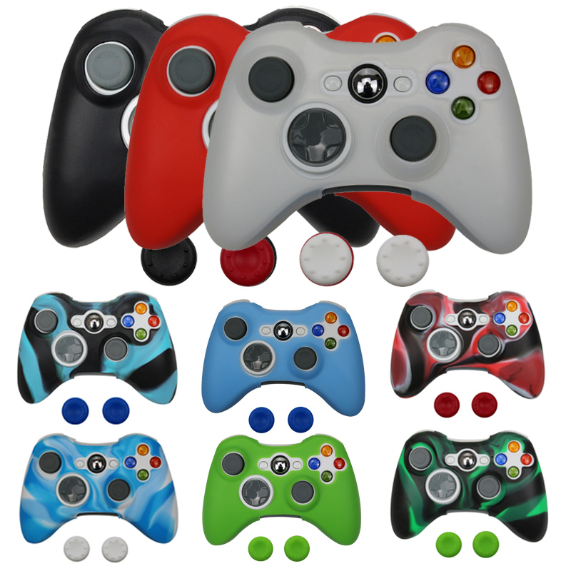 High Quality Protective Silicone Skin Case for Xbox360 360 Controller Free Shipping