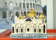 Italian water city of Venice cathedral resin refrigerator