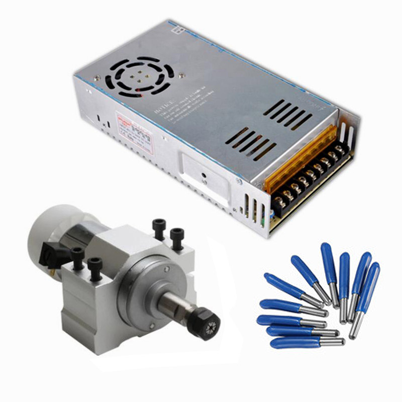 300W Spindle Motor DC Air Cooled Switching Power Supply Motor Driver 52MM Clamp ER11 CNC Router tools free shipping dc 200w spindle motor 0 2kw air cooling spindle motor er11 spindle motor
