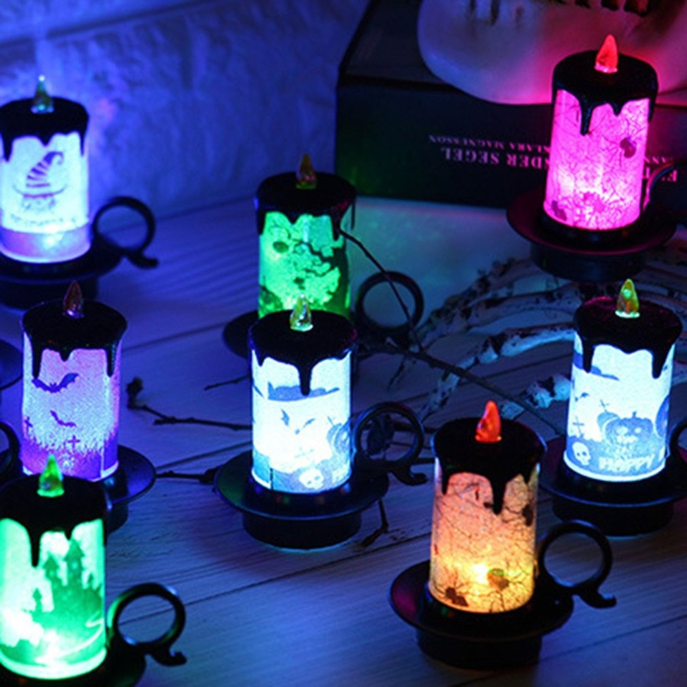 Electronic Halloween Decorations: Decorate Props Candle Light Candle Cup LED Electronic