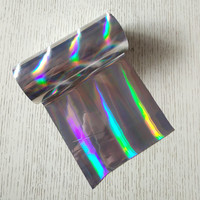 2rolls Lot Holographic Stamping Foil For Paper Or Plastic Silver Streamer Color 16cm X 120m