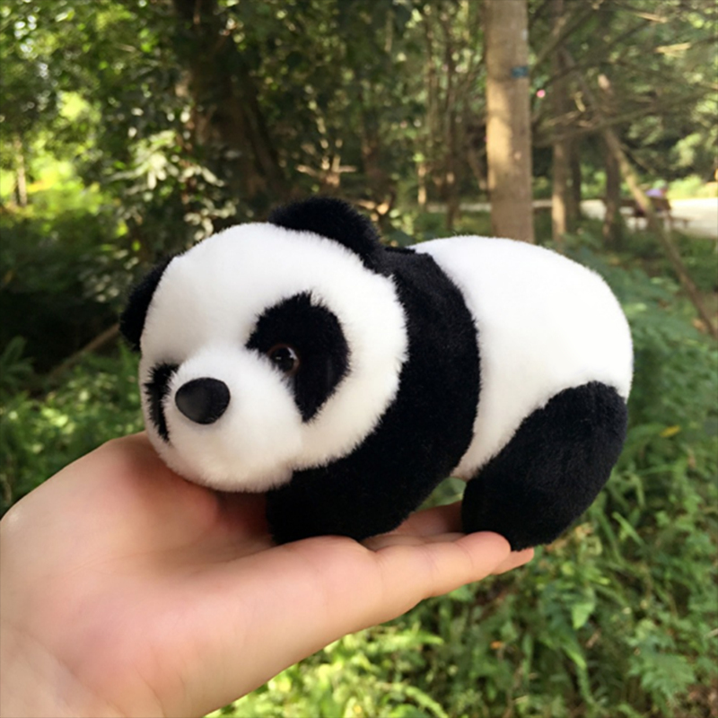 New brand16cm Lovely Super Cute Stuffed Kid Animal Soft Plush Panda Doll Toy for kids Gift Present santa clause figure model lovely plush doll soft cute stuffed toy 11 8 inch