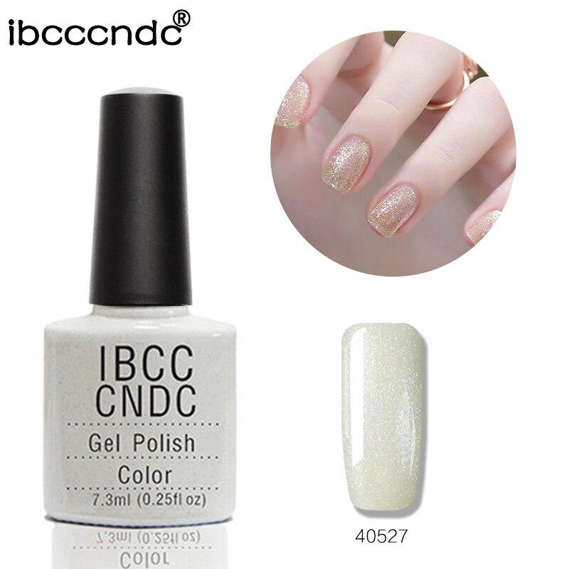 2018 Nuevo IBCCCNDC Nail Gel Polish Nail Art Barniz Soak Off Lámpara LED UV Curado Gel Laca 79 Colores 40527