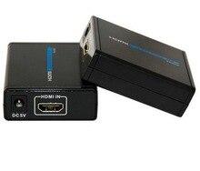 372 HDMI 1080P Ethernet CAT5e CAT6 LAN Extender 40M Transmitter+Receiver RJ45 CAT5E CAT6 HD DVD PS3 Projector video adapter