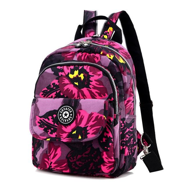 Casual Women Backpack Nylon Small Backpacks Lightweight Softback Bags Travel Waterproof Backpacks Teenagers Girls & Women's Bag