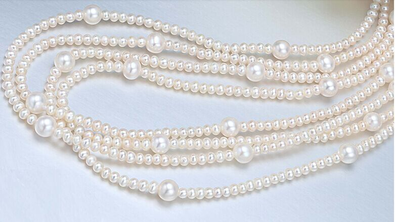 """SINGLE STRANDS AAA6-11MM ROUND SOUTH SEA WHITE PEARL NECKLACE 48""""14KGP"""