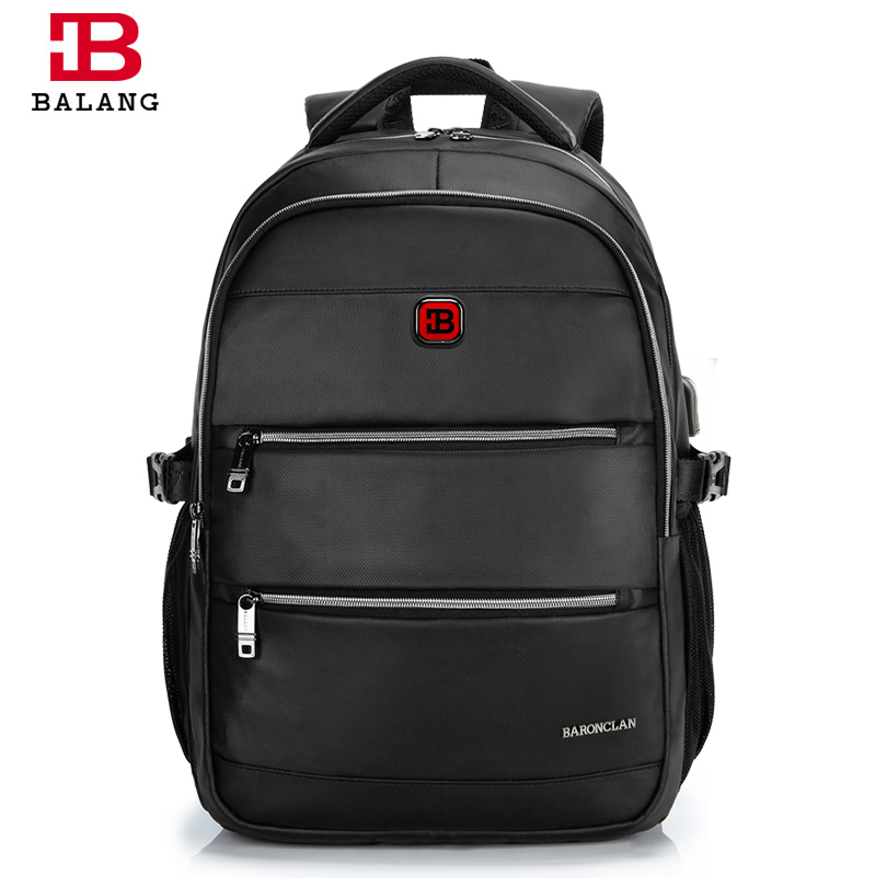 BALANG Brand Fashionable Business Men Laptop Backpacks 15.6 inch Durable College School Backpack Bags for Students Fashion