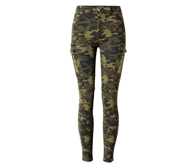 Riva High Waist Camo Jeans