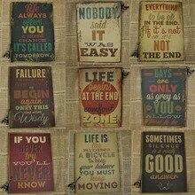 Мотивационный плакат винтажная Настенная Наклейка для дома Декор для гостиной картина винтажные бумажные плакаты и принты Ретро аниме плакат
