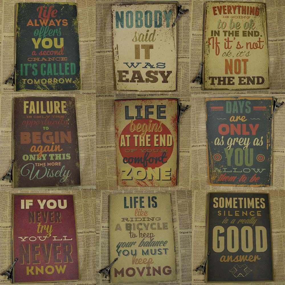 Motivational poster Vintage Home Wall sticker living room Decor painting Vintage Paper posters and prints Retro anime poster