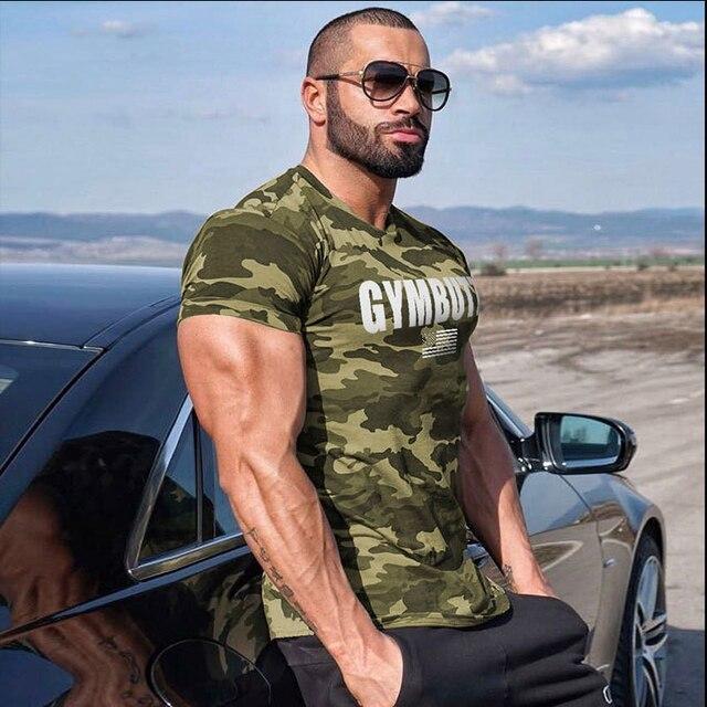 2019 Camo Sport T Shirt Men GYM Shirt Quick Dry Fit Running T-Shirt Men Fitness Workout GYM Sports Tshirt Summer Fitness Tops