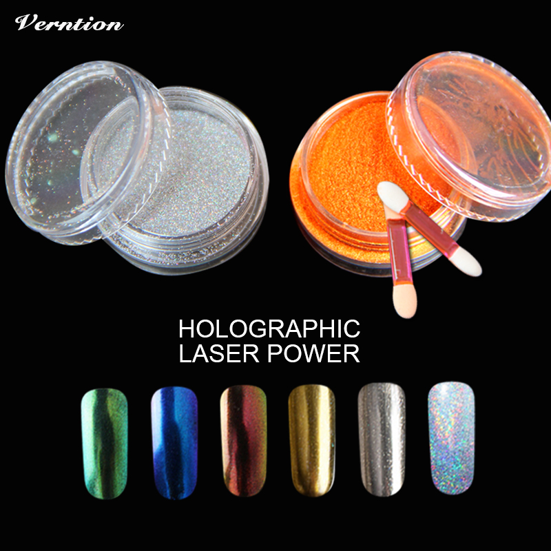 Mirror-Powder Glitter-Polish Nails Chrome-Pigment For Vtirka