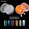 \ Verntion Polvo para Uñas Chrome Nail Polvo de Uñas de Arte Pigmento de Cromo Vtirka Espejo Polvo de Uñas Esmalte de Brillo