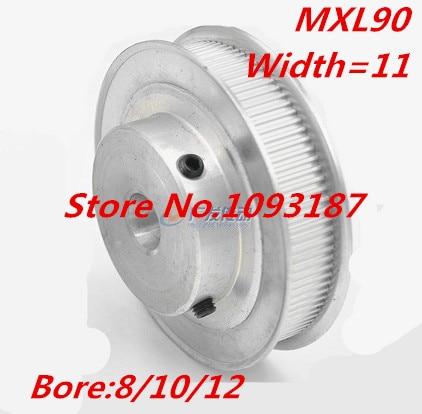 MXL 90Teeth 8//10//12mm Bore 11mm Width Timing Belt Pulley For Stepper Motor