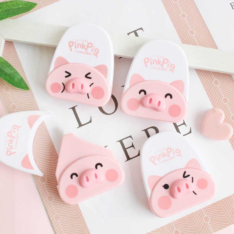 1pc Mini Adorável Pink Pig Correção Correção Fita Kawaii artigos de Papelaria material de Escritório Estudante Da Escola Dos Miúdos Presentes 6 Corrector m * 5mm