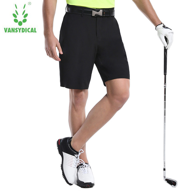 cf7c543855cc Vansydical Authentic Golf Trousers Men s Shorts Perfect Flat-Front Male  Shorts Summer Thin Dry Fit Breathable Masculino M-XXXL