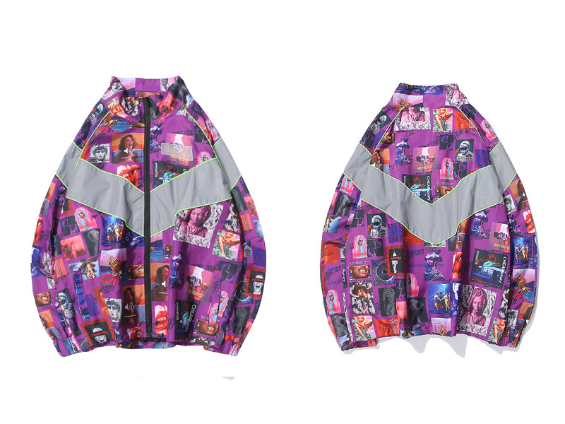 3M Reflective Stripe Creative Printed Jackets 1