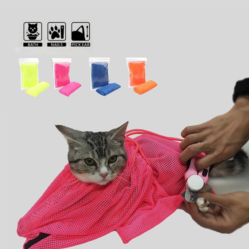 Cat Grooming Bag Cleaning Bathing Restraint Shower Nail Cutting Medicine Cat Pet Washing Products Special Multifunctional Suit