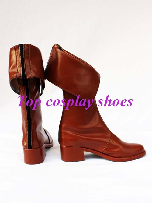 Freeshipping anime Shining Tears Elwing Brown PU Leather Cosplay Boots shoes  made for Halloween Christmas-in Shoes from Novelty & Special Use on ...