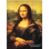 Pittura diamante Diy Mona Lisa smile diamante ricamo famoso art decorazione della parete needlework nuovo modo DP245