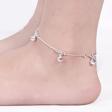 Womens Foot Jewelry Bell Ankle Barefoot Link Chain Beach Anklets Bracelet & bangles silver plated jewellery JL013R