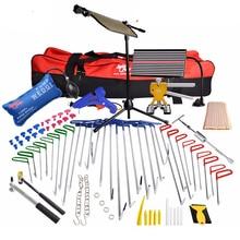 PDR Tools Hook Push Rod Car Dent Repair Door Dings Hail Repair Car Damage Repair Kit LED Lamp Puller Kit Suction Cups For Dents