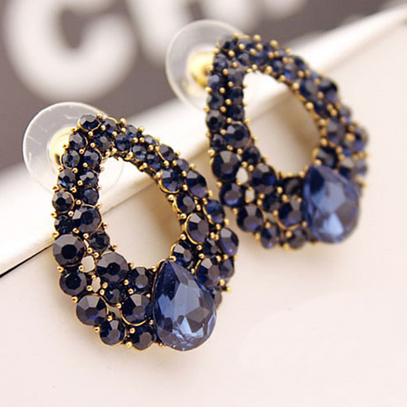 nereides curious stone les earrings blue and loves dog animals en