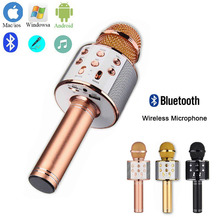 цены Bluetooth Wireless Microphone Speaker HD Support TF Handheld Microphone Karaoke KTV Mic Music Player Singing For ios android PC