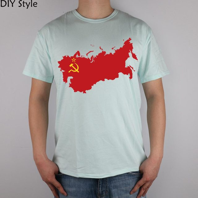 Ussr Russia Russian Red logot-shirt Top Lycra Cotton Men T Shirt New Design High Quality Digital Inkjet Printing