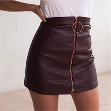 ZYFPGS 2019 Spring Summer Sexy Skirt Woman PU New Arrivals Pencil Skirts Mini Women Skrit #D0071