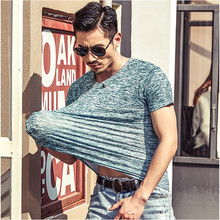 T Shirt Men short sleeves New Brand 2017 summer Men's Brand Clothing Casual Slim O-neck stripe T shirt Male Tees M-XXXL